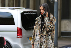 Fashionista arrives at the Topshop Unique Autumn / Winter 2017 London Fashion Week show at Tate Modern, London