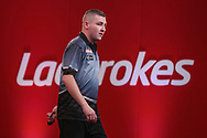 Nathan Aspinall during the Ladrokes UK Open 2019 at Butlins Minehead, Minehead, United Kingdom on 1 March 2019.