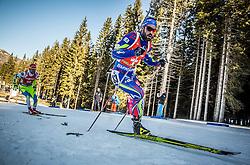 Simon Fourcade (FRA) competes during Men 12,5 km Pursuit at day 3 of IBU Biathlon World Cup 2015/16 Pokljuka, on December 19, 2015 in Rudno polje, Pokljuka, Slovenia. Photo by Vid Ponikvar / Sportida