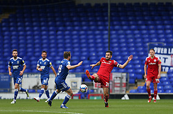 Seamus Conneely of Accrington Stanley stretches out a leg trying to get the ball - Mandatory by-line: Arron Gent/JMP - 16/10/2020 - FOOTBALL - Portman Road - Ipswich, England - Ipswich Town v Accrington Stanley - Sky Bet League One