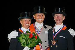 1. Gal Edward (NED) <br /> 2. Van Grunsven Anky (NED)<br /> 3. Schellekens Imke (NED)              <br /> Nederlands Kampioenschap Dressuur - De Steeg 2009<br /> Photo © Dirk Caremans
