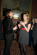 JOANNE PEISER AND CAROLINE BOIN, Book launch for AN APPEAL TO REASON, A Cool Look at Global Warming by Nigel Lawson. Hosted by NIGELLA LAWSON, DUCKWORTH PUBLISHERS and ED VICTOR LTD.<br />The Garrick Club. London. 16 April 2008.  *** Local Caption *** -DO NOT ARCHIVE-© Copyright Photograph by Dafydd Jones. 248 Clapham Rd. London SW9 0PZ. Tel 0207 820 0771. www.dafjones.com.