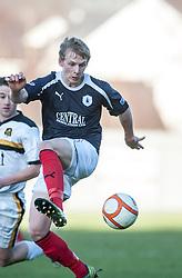Falkirk's Stephen Kingsley..Dumbarton 0 v 2 Falkirk, 23/2/2013..©Michael Schofield.