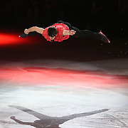U.S. Champion Ryan Bradley performs during the Stars on Ice Figure Skating tour stop at the Amway Center on Sunday, April 6, 2014 in Orlando, Florida. (AP Photo/Alex Menendez)
