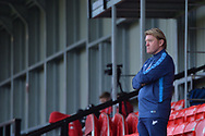Stuart McCall during the EFL Sky Bet League 2 match between Salford City and Bradford City at the Peninsula Stadium, Salford, United Kingdom on 21 November 2020.