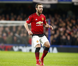 February 18, 2019 - London, United Kingdom - Manchester United's Juan Mata.during FA Cup Fifth Round between Chelsea and Manchester United at Stanford Bridge stadium , London, England on 18 Feb 2019. (Credit Image: © Action Foto Sport/NurPhoto via ZUMA Press)
