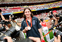 Fotball<br /> OL 2008 Beijing<br /> Nigeria v Argentina Finale<br /> 22.08.2008<br /> Foto: Witters/Digitalsport<br /> NORWAY ONLY<br /> <br /> Olympiasieger Lionel Messi Argentinien, Gold<br /> Olympische Spiele Peking 2008, Fussball Herren Finale Nigeria - Argentinien 0:1<br /> <br /> BILDET INNGÅR IKKE I OL-FASTAVTALER