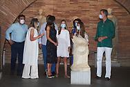 King Felipe VI of Spain, Queen Letizia of Spain, Crown Princess Leonor, Princess Sofia visit to the National Museum of Roman Art on July 22, 2020 in Merida, Spain