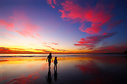 Low Tide Under A Colorful Sunset