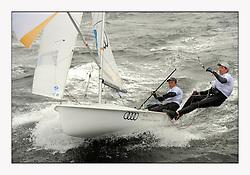 470 Class European Championships Largs - Day 3.Brighter conditions with more wind..GER10, Ferdinand GERZ, Patrick FOLLMANN, Deutscher Touring Yacht Club.