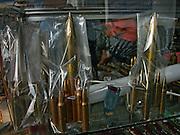 Vietnam, Ho Chi Min City: bullets souvenir at the war museum.