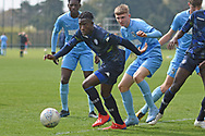 Leeds United forward Henri Kumwenda chases the ball during the U18 Professional Development League match between Coventry City and Leeds United at Alan Higgins Centre, Coventry, United Kingdom on 13 April 2019.