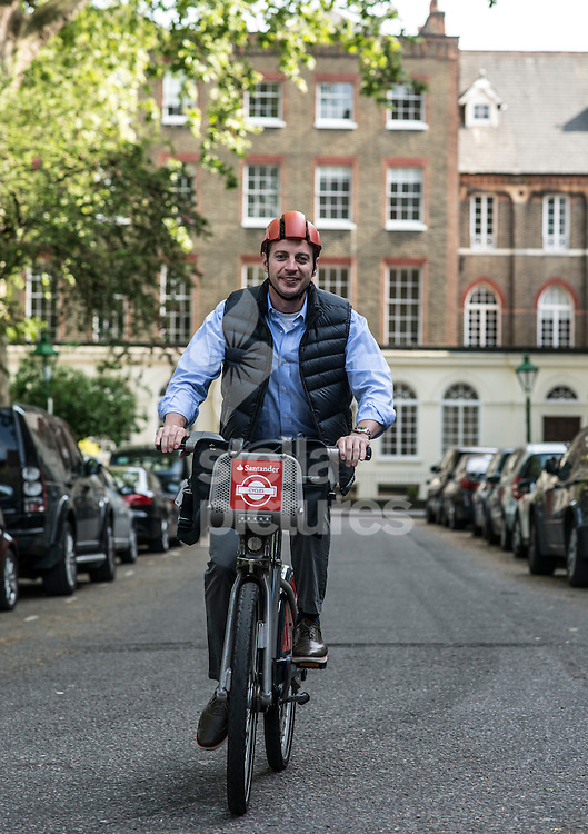 Sam Terry, inventor of the LID Cycle Helmet. <br /> Picture by Daniel Hambury/Stella Pictures Ltd +44 7813 022858<br /> 15/05/2015