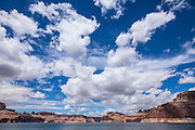 Clouds in the sky over Lake Powell in Glen Canyon National Recreation Area