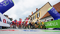 Cyclists at the start prior to 2nd Stage of 27th Tour of Slovenia 2021 cycling race between Zalec and Celje (147 km), on June 10, 2021 in Slovenia. Photo by Matic Klansek Velej / Sportida