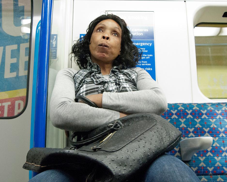 Portrait of female Londoner on the Underground Network