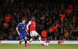 Nicolas Pepe of Arsenal passes the ball - Mandatory by-line: Arron Gent/JMP - 27/02/2020 - FOOTBALL - Emirates Stadium - London, England - Arsenal v Olympiacos - UEFA Europa League Round of 32 second leg
