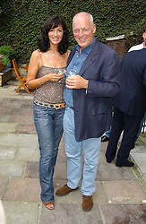 Musician DAVID GILMOUR and his wife POLLY SAMPSON at the Tatler Summer Party in association with Moschino at Home House, 20 Portman Square, London W1 on 29th June 2005.<br /><br />NON EXCLUSIVE - WORLD RIGHTS