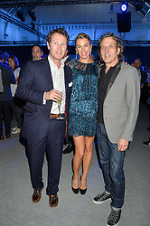 Left to right, NICK MORAN and STEPHEN & ASSIA WEBSTER at the Maserati Levante VIP Launch party held at the Royal Horticultural Halls, Vincent Square, London on 26th May 2016.