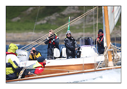 Day five of the Fife Regatta, Race from Portavadie on Loch Fyne to Largs. <br /> <br /> Media RIB with Jo Turner, Ali Houston and Michel Bourdan<br /> <br /> * The William Fife designed Yachts return to the birthplace of these historic yachts, the Scotland's pre-eminent yacht designer and builder for the 4th Fife Regatta on the Clyde 28th June–5th July 2013<br /> <br /> More information is available on the website: www.fiferegatta.com
