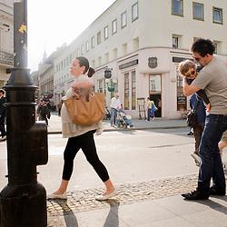 Warsaw, Poland - May, 2009 - Street Novy Swiat, Warsaw's main thoroughfare just south of Old Town..Photo © Susana Raab 2009