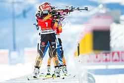 HILDEBRAND Franziska (GER) competes during Women 12,5 km Mass Start at day 4 of IBU Biathlon World Cup 2014/2015 Pokljuka, on December 21, 2014 in Rudno polje, Pokljuka, Slovenia. Photo by Vid Ponikvar / Sportida