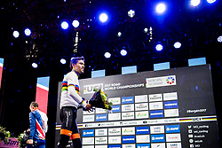 September 20, 2017 - Bergen, NORWAY - 170920  Tom Dumoulin of The Netherlands and Christopher Froome of Great Britain during the award ceremony after the Men Elite Individual Time Trial on September 20, 2017 in Bergen..Photo: Jon Olav Nesvold / BILDBYRN / kod JE / 160023 (Credit Image: © Jon Olav Nesvold/Bildbyran via ZUMA Wire)