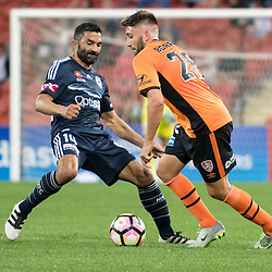 BRISBANE, AUSTRALIA - OCTOBER 7: Brandon Borrello of the Roar controls the ball during the round 1 Hyundai A-League match between the Brisbane Roar and Melbourne Victory at Suncorp Stadium on October 7, 2016 in Brisbane, Australia. (Photo by Patrick Kearney/Brisbane Roar)