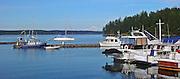 Friday Harbor with Mt. Baker in Background, San Juan Islands, Washington state