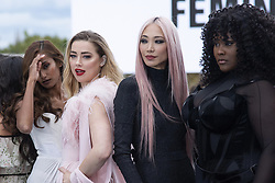 Nidhi Sunil, Amber Heard, Soo Joo Park and Yseult posing on the runway after the L'Oreal show as part of Paris Fashion Week Womenswear Spring/Summer 2022 in Paris, France on October 03, 2021. Photo by Aurore Marechal/ABACAPRESS.COM