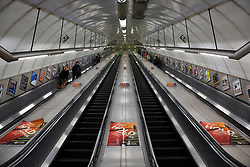 © Licensed to London News Pictures. 15/03/2020. London, UK. A nearly empty Holborn underground station amid an increased number of coronavirus (COVID-19) cases in the UK. 21coronavirus victims have died and 820 cases have tested positive of the virus in the UK of which 167 in London. Photo credit: Dinendra Haria/LNP