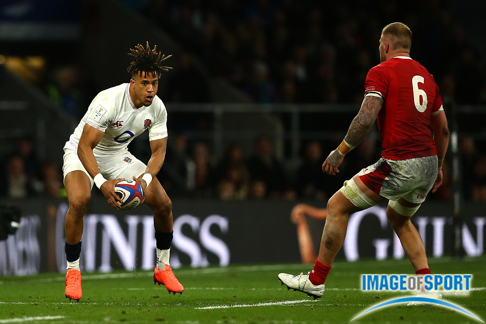 Anthony Watson of England during the Guinness Six Nations between England and Wales at Twickenham Stadium, Saturday, March 7, 2020, in London, United Kingdom. (Mitchell Gunn-ESPA-Images/Image of Sport)
