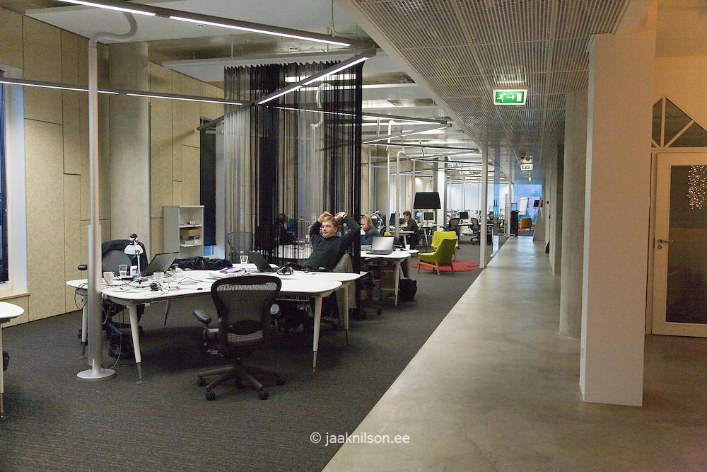 Interior of Modern Skype Office in Tallinn, Estonia