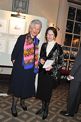 MARIA CARMELA, VISCOUNTESS HAMBLEDEN and the DOWAGER COUNTESS OF SCARBOROUGH at a private view of The Secret Garden and A Little Princess an exhibition of original watercolours by Graham Rust held at St.Wilfrid's Hall, The Brompton Oratory, London on 2nd October 2012.