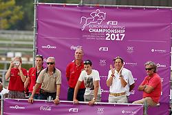 Philippaerts Veronique, BEL, Philippaerts Thibault, BEL<br /> Juniors European Championships Jumping <br /> Samorin 2017© Hippo Foto - Dirk Caremans<br /> 10/08/2017