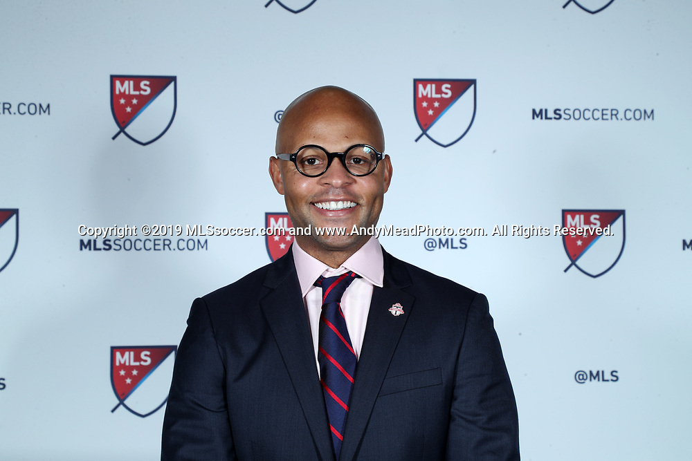 CHICAGO, IL - JANUARY 11: Toronto FC general manager Ali Curtis. The MLS SuperDraft 2019 presented by adidas was held on January 11, 2019 at McCormick Place in Chicago, IL.