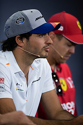 May 9, 2019 - Barcelona, BARCELONA, SPAIN - BARCELONA, CATALONIA, SPAIN 9 of May. Carlos Sainz driver of .McLaren during the official press conference before the Spanish GP at Circuit de Barcelona Catalunya (Credit Image: © AFP7 via ZUMA Wire)
