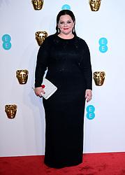 Melissa McCarthy attending the 72nd British Academy Film Awards held at the Royal Albert Hall, Kensington Gore, Kensington, London.