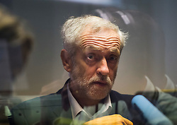 © Licensed to London News Pictures. 30/09/2015. Brighton, UK. Labour leader JEREMY CORBYN during a a radio interview on the Today programme on BBC Radio 4 on Day four of the 2015 Labour Party Conference, held at the Brighton Centre in Brighton, East Sussex. This years conference takes place just weeks after Jeremy Corbyn was elected leader of the party. Photo credit: Ben Cawthra/LNP