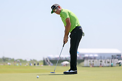 May 18, 2018 - Dallas, TX, U.S. - DALLAS, TX - MAY 18: Brian Gay of the United States sinks his birdie putt on #16 during the second round of the 50th anniversary AT&T Byron Nelson on May 18, 2018 at Trinity Forest Golf Club in Dallas, TX.  (Photo by Andrew Dieb/Icon Sportswire) (Credit Image: © Andrew Dieb/Icon SMI via ZUMA Press)