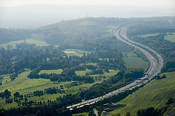 ©London News pictures...  .Generic file picture of the M25 motorway in Surrey.