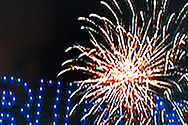 BELGIUM, Brussels. 7/11/2020: Fireworks in Wilmington (De) after the announcement of J. Biden's election during the presidential elections in the USA as seen on television.