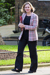 London, UK. 7 May, 2019.  Amber Rudd MP, Secretary of State for Work and Pensions, arrives at 10 Downing Street for a Cabinet meeting.