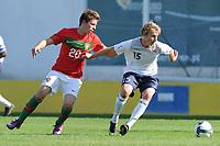 Fotball<br /> 20.10.2011<br /> Landskamp G15<br /> Portugal v Norge<br /> Foto: Cityfiles/Digitalsport<br /> NORWAY ONLY<br /> <br /> Portugal vs Norway  under 16 International Friendly Football Match. In picture: Rafa from Portugal and Ulrik Yttergård Jenssen from Norway
