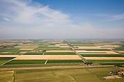 Nederland, Noord-Holland, Texel, 14-07-2008; Polder Eijerland gezien naar de Waddenzee; in de  polder het internationaal vliegveld 'De Vlijt'; verkaveling, inrichting, boerderij, . .luchtfoto (toeslag); aerial photo (additional fee required); .foto Siebe Swart / photo Siebe Swart