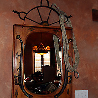 The mirror in the living room of the Argentina Suite at El Monte Sagrado, an example of the attention to detail in decor.