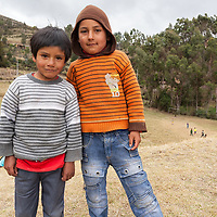 Boys posing near the Saywite monolith.