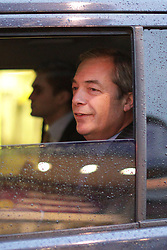 © Licensed to London News Pictures . 06/02/2017. Stoke-on-Trent, UK. Former UKIP leader Nigel Farage spotted in his car in Stoke. Nigel Farage joins current leader Paul Nuttall at a public meeting at Victoria Hall in Hanley , during Nuttall's campaign to win the seat of Stoke-on-Trent Central . Photo credit: Joel Goodman/LNP