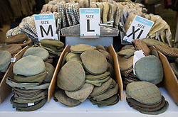 © Licensed to London News Pictures. 10/05/2017. Windsor, UK. Caps are displayed for sale on the first day of the Royal Windsor Horse Show. The five day equestrian event takes place in the grounds of Windsor Castle. Photo credit: Peter Macdiarmid/LNP