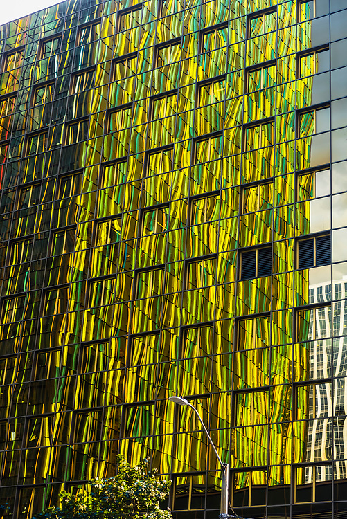 Reflections in a glass office building in Downtown Seattle, Washington USA.